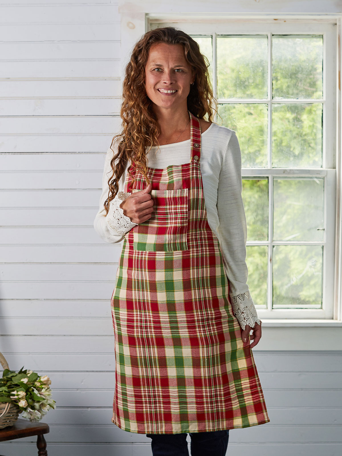 Yuletide Plaid Apron