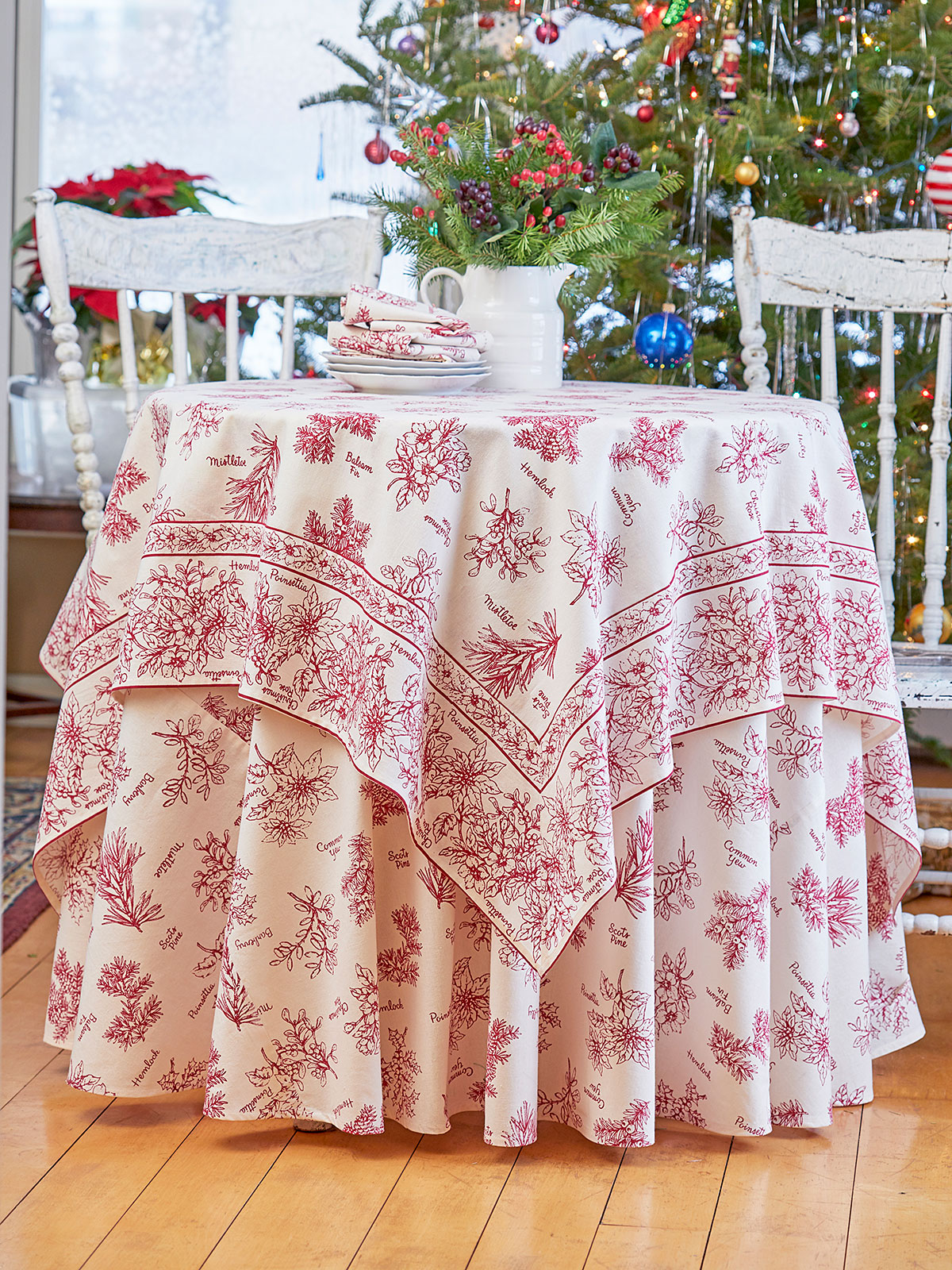 Christmas Botanical Table Setting