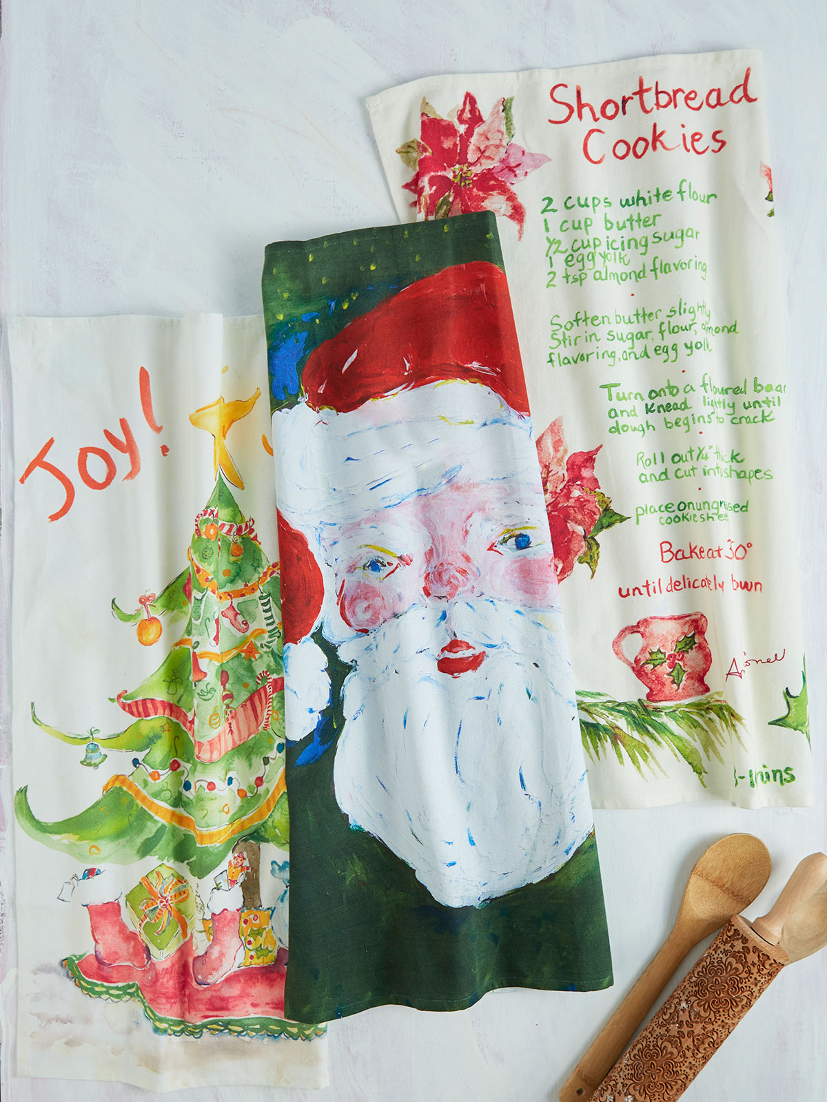 April's Christmas Tea Towel Bundle