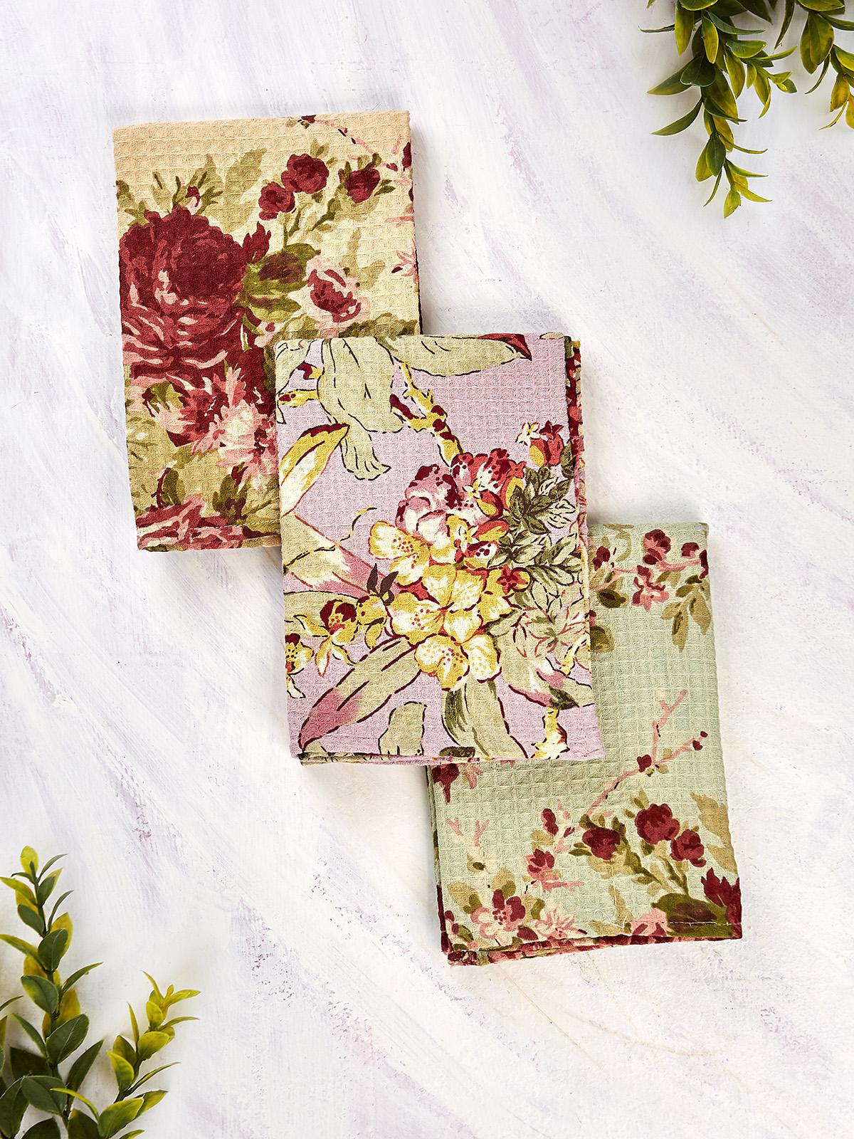 Cottage Core Patchwork Tea Towel Bundle