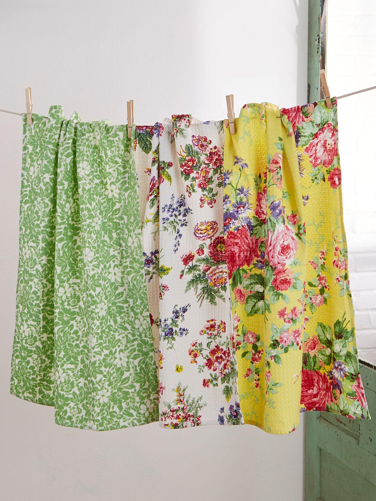 Garden Patchwork Tea Towel Bundle
