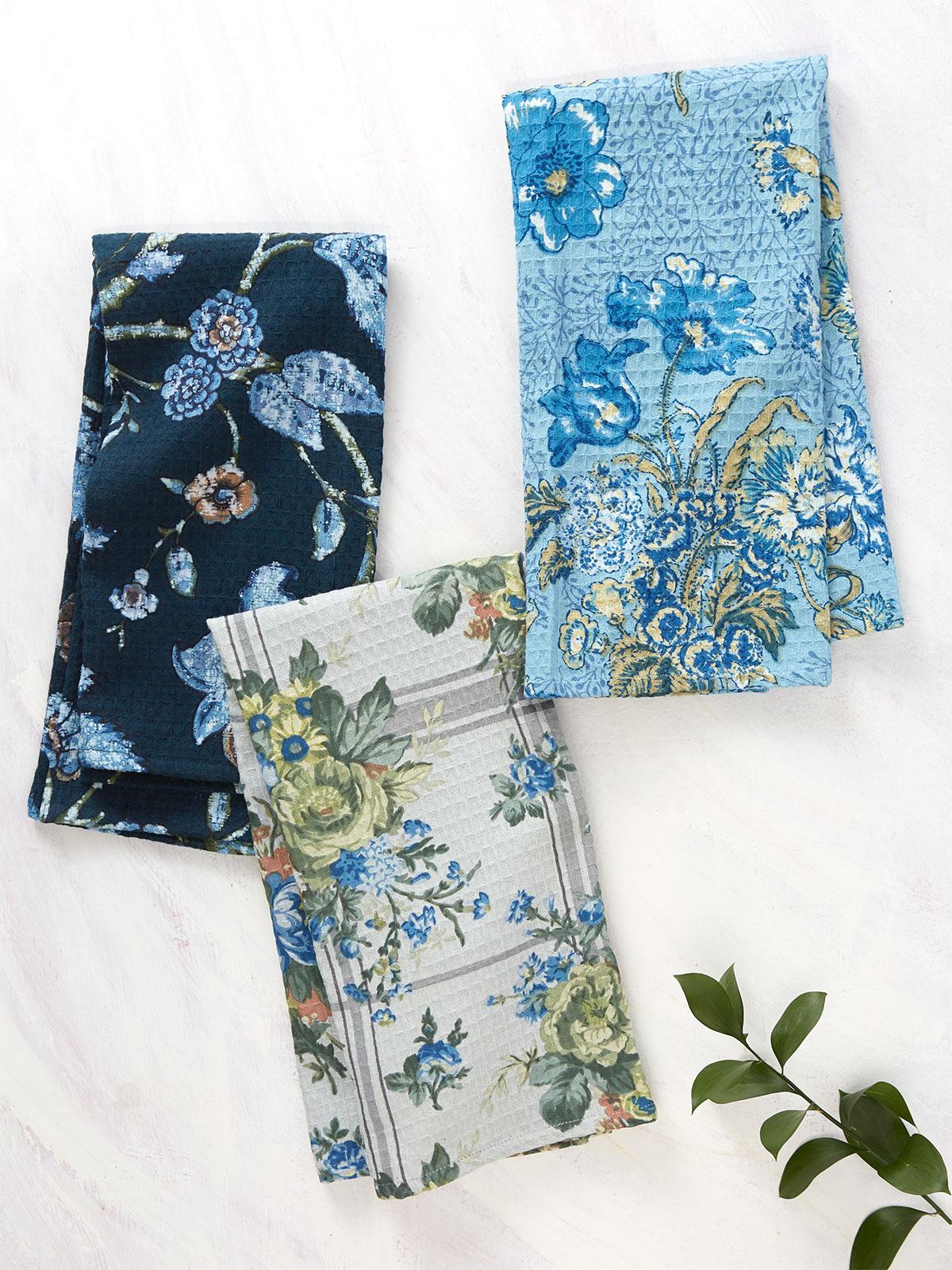 Midnight Patchwork Tea Towel Bundle