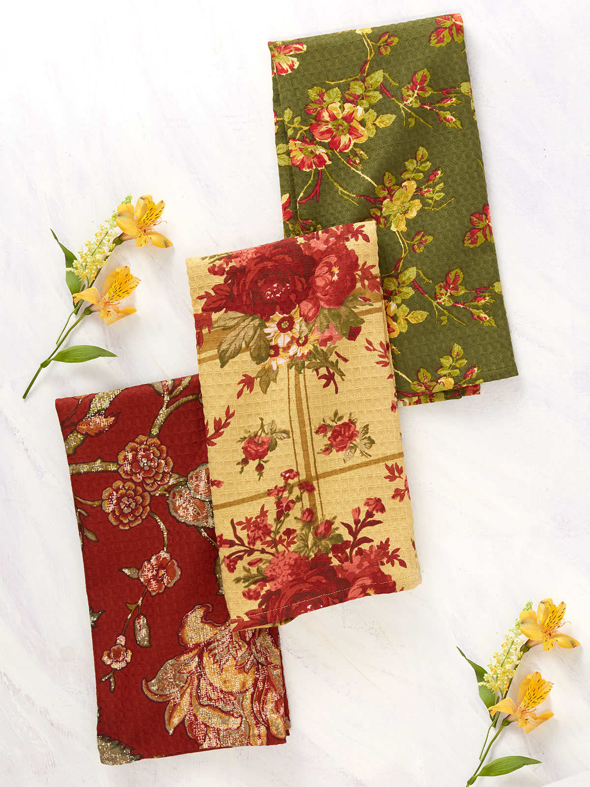 Nature's Patchwork Tea Towel Bundle