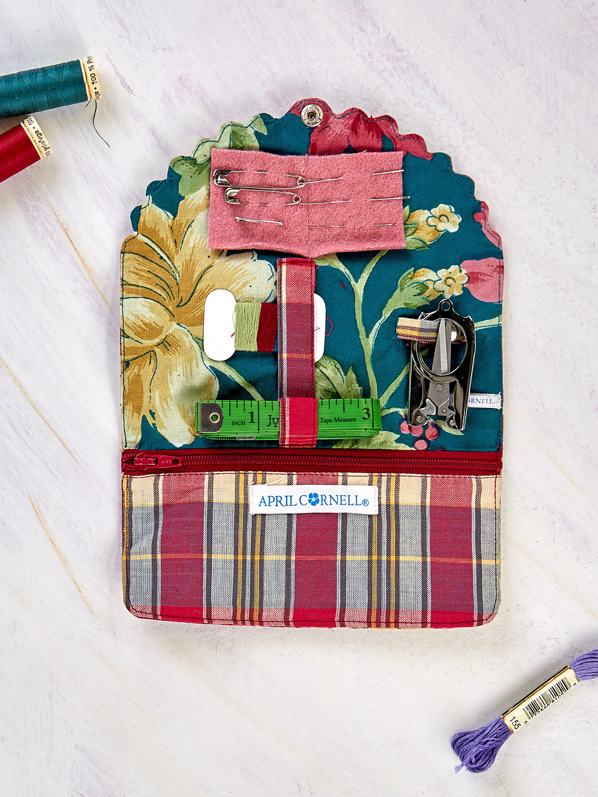 Cranberry Cocktail Patchwork Sewing Kit