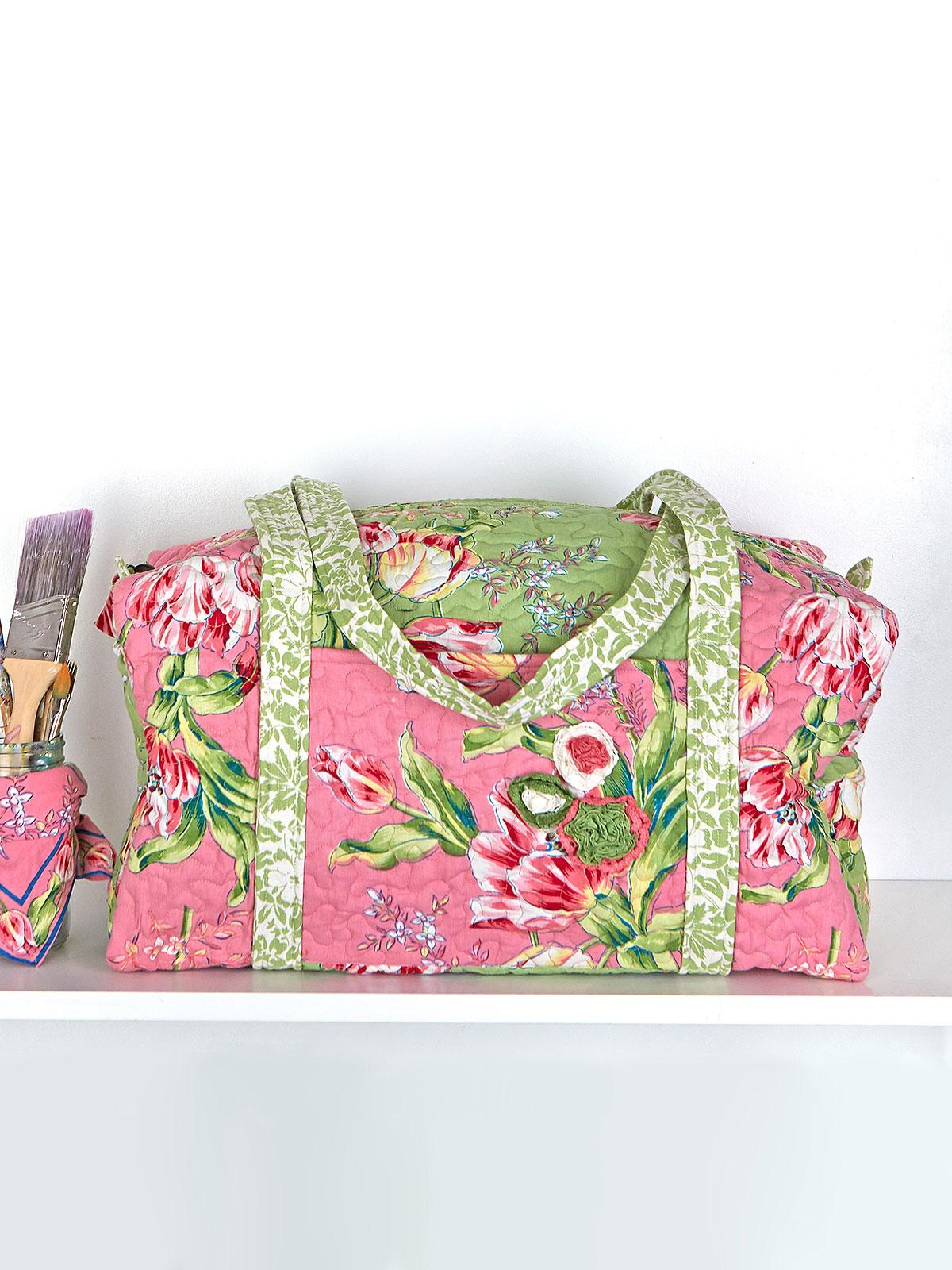 Spring Bouquet Patchwork Duffle