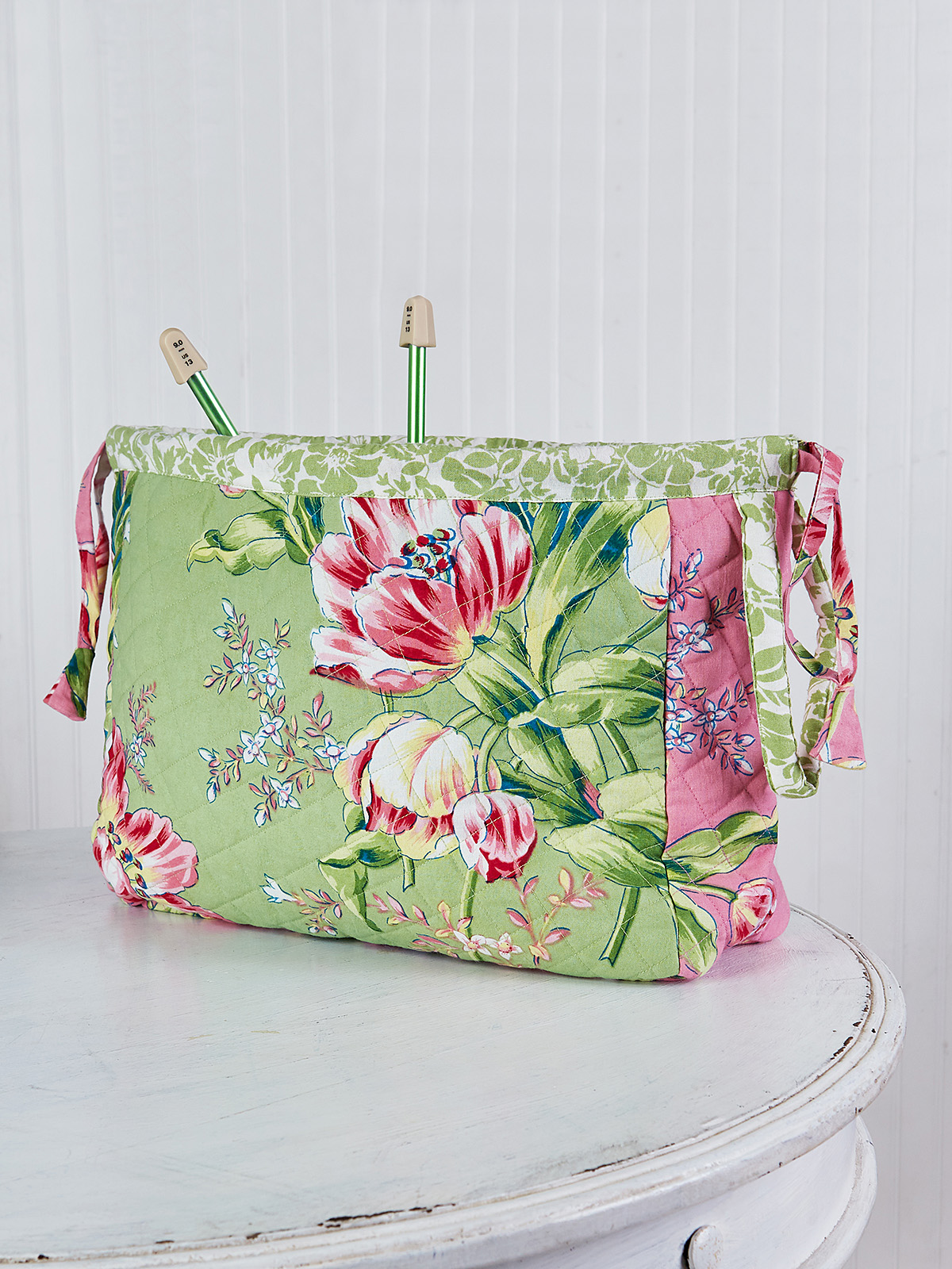 Spring Bouquet Patchwork Knitters Bag