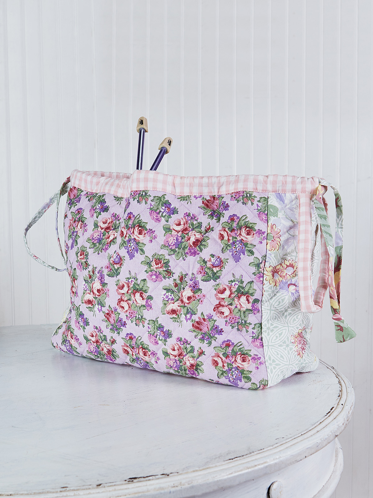 Tea Garden Patchwork Knitters Bag