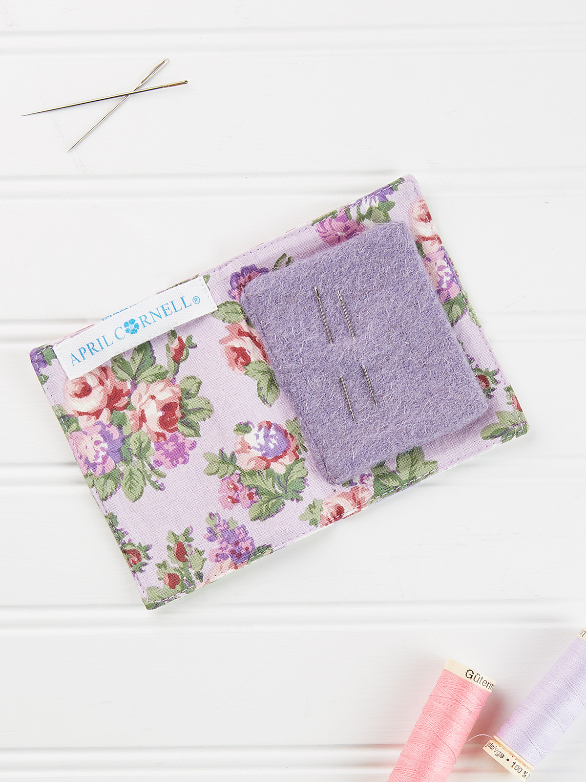 Tea Garden Patchwork Needle Book