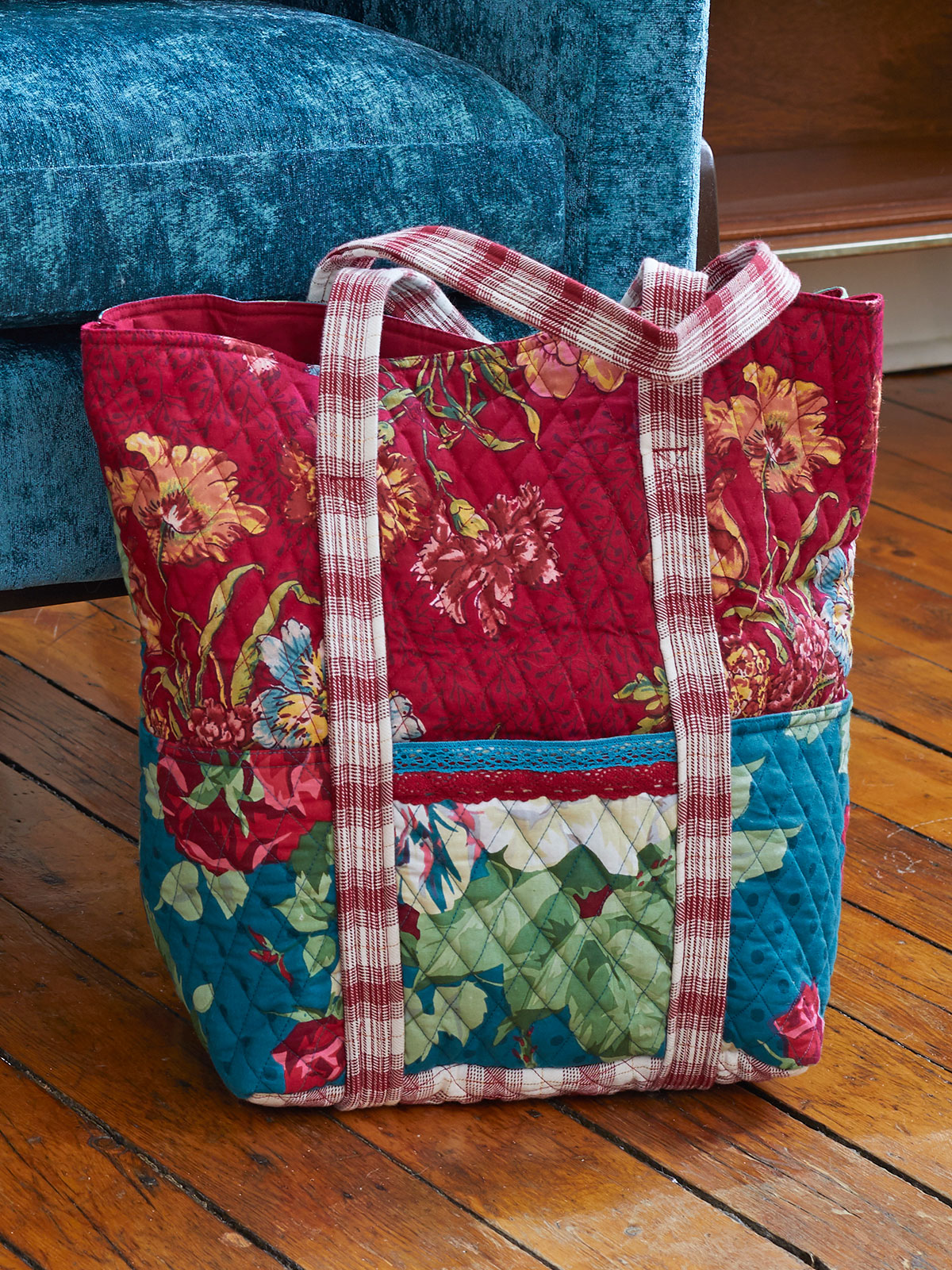 Jewel Patchwork Quilted Tote