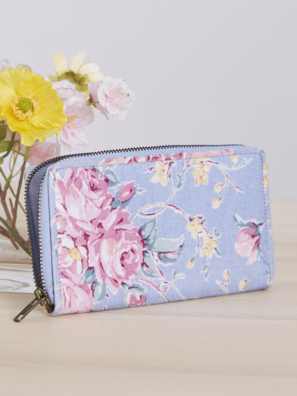 Viola Rose Zip Wallet