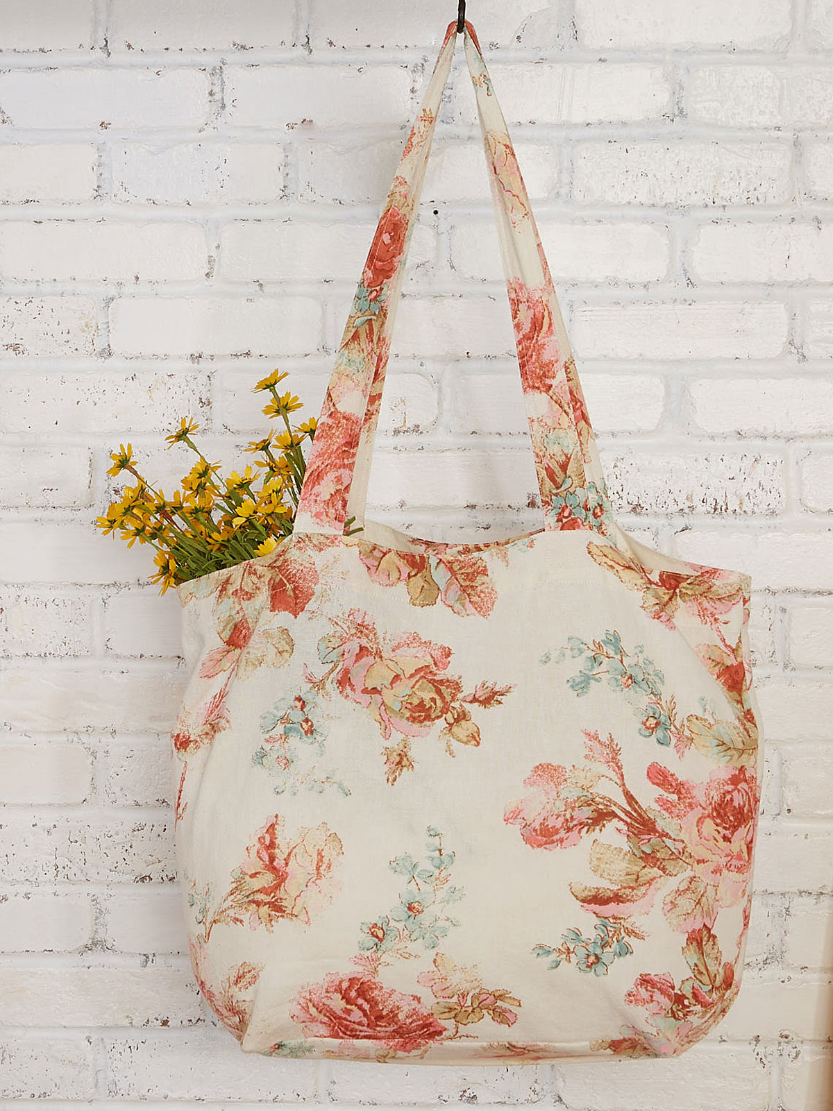 Victorian Rose Market Bag