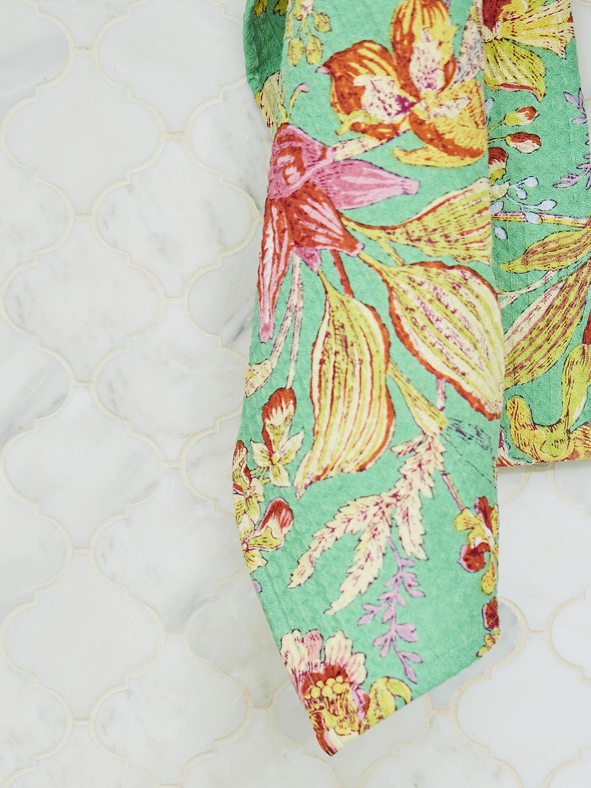 Orchid Study Honeycomb Bath Towel