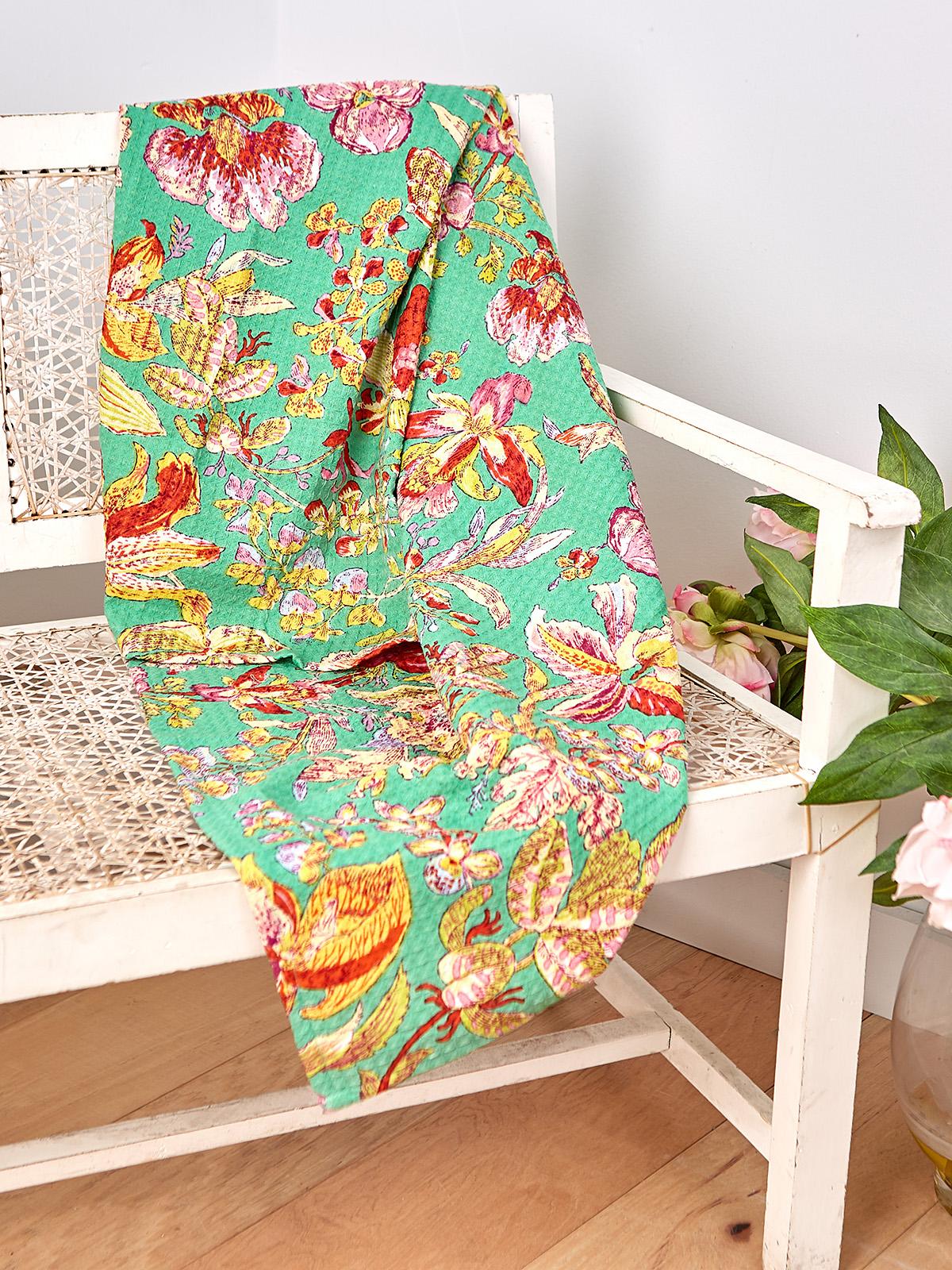 Orchid Study Honeycomb Beach Towel