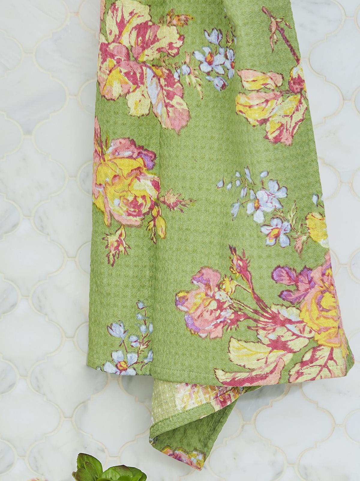 Victorian Rose Honeycomb Bath Towel