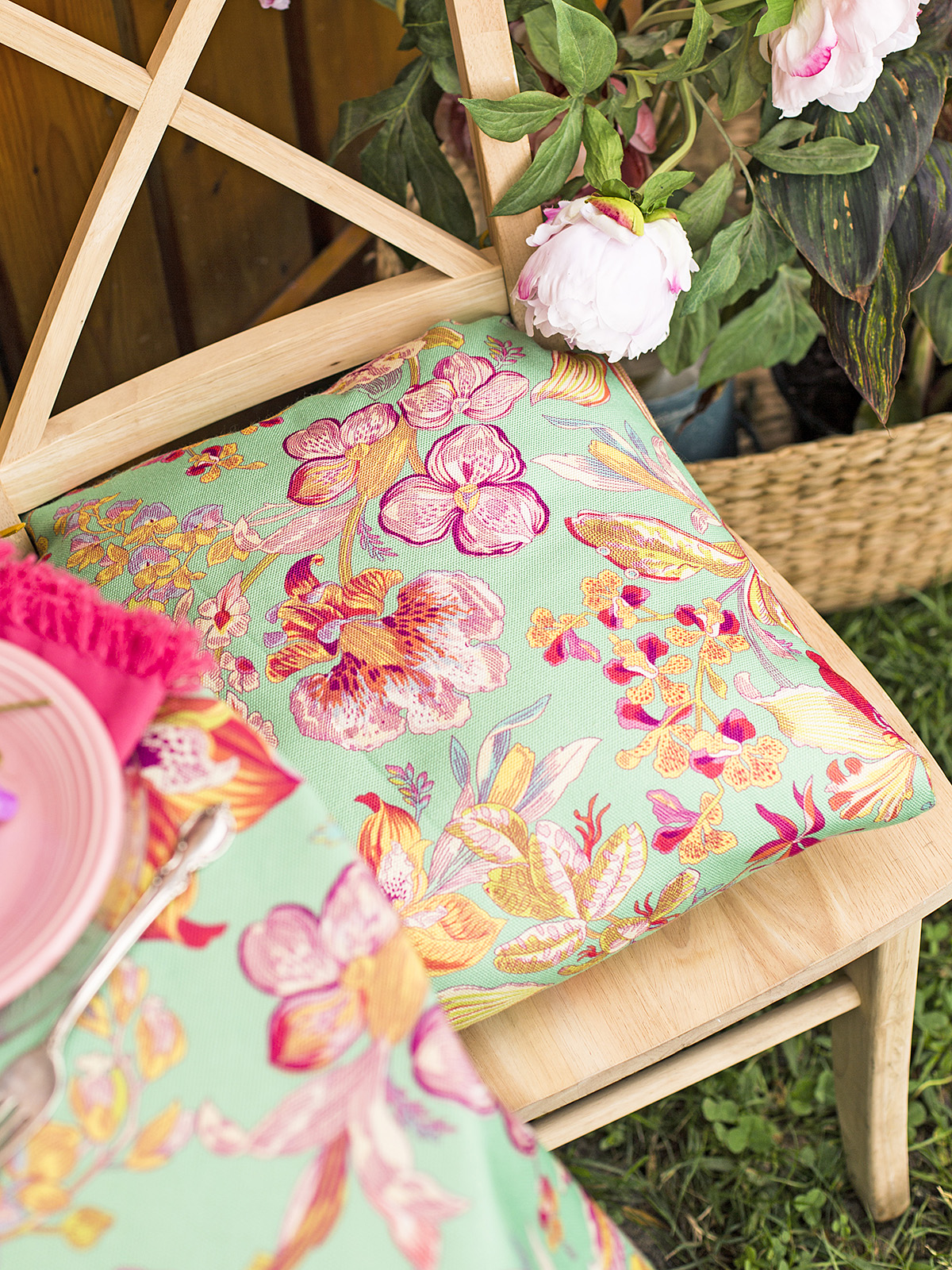 Orchid Study Outdoor Chair Pad