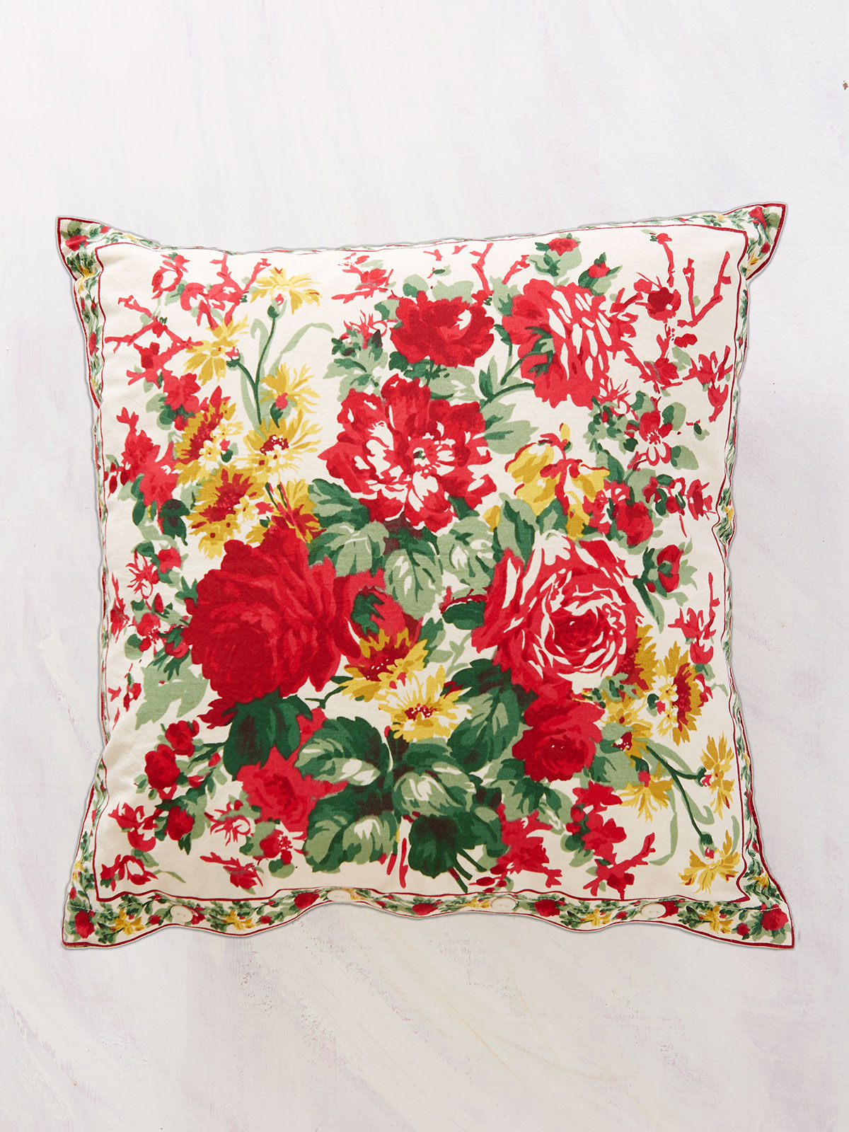 Cottage Rose Cushion Cover