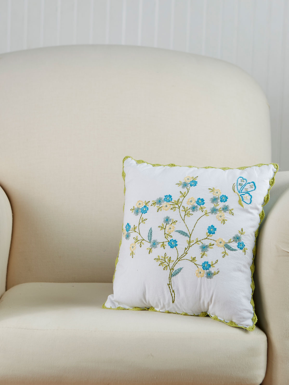 Hidden Garden Embroidered Cushion