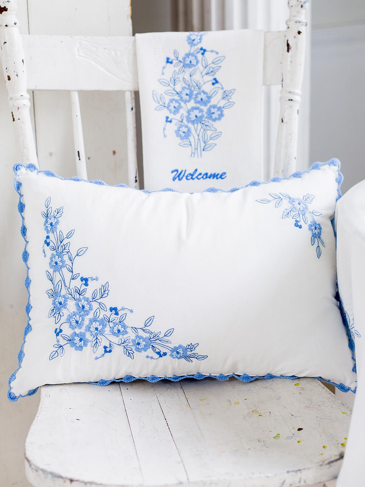 Provence Embroidery Cushion