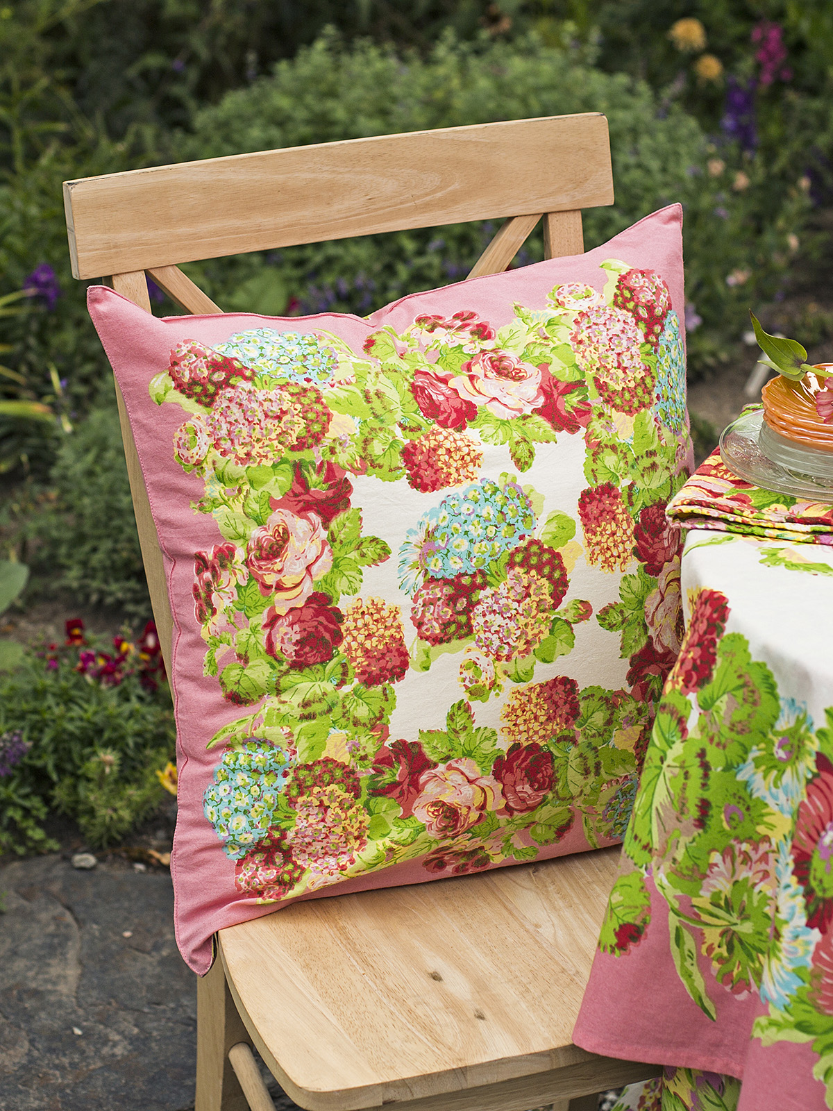 Spring Gathering Cushion Cover
