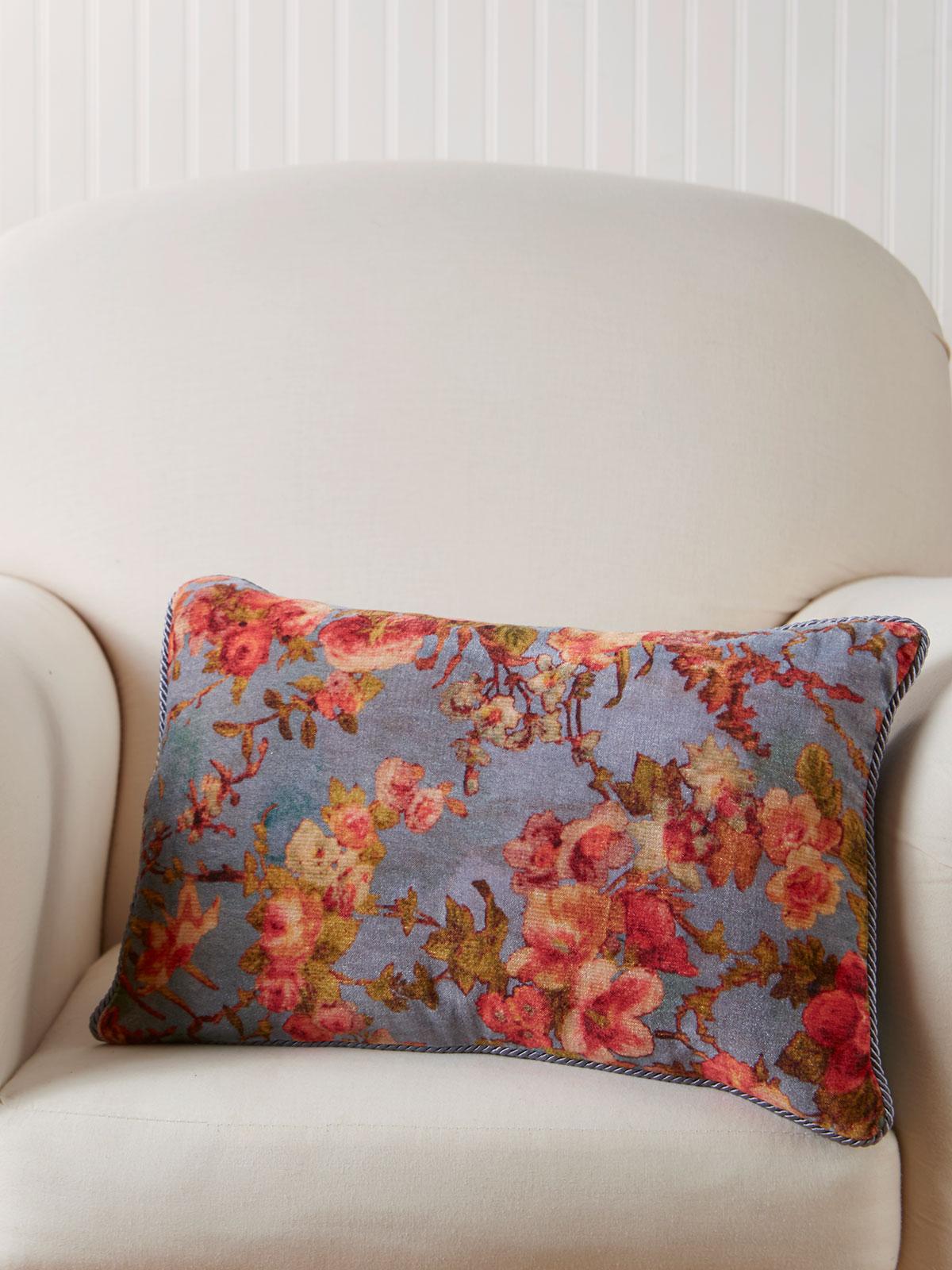English Garden Velvet Cushion
