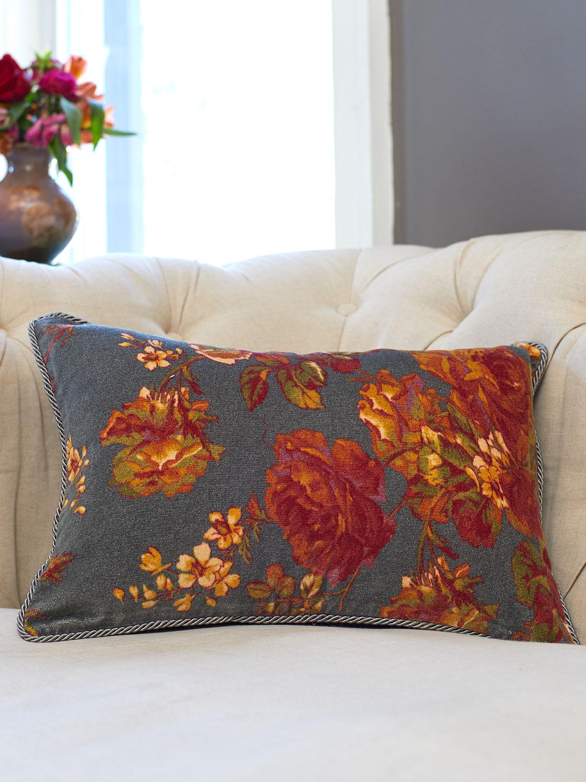 Victorian Rose Velvet Cushion