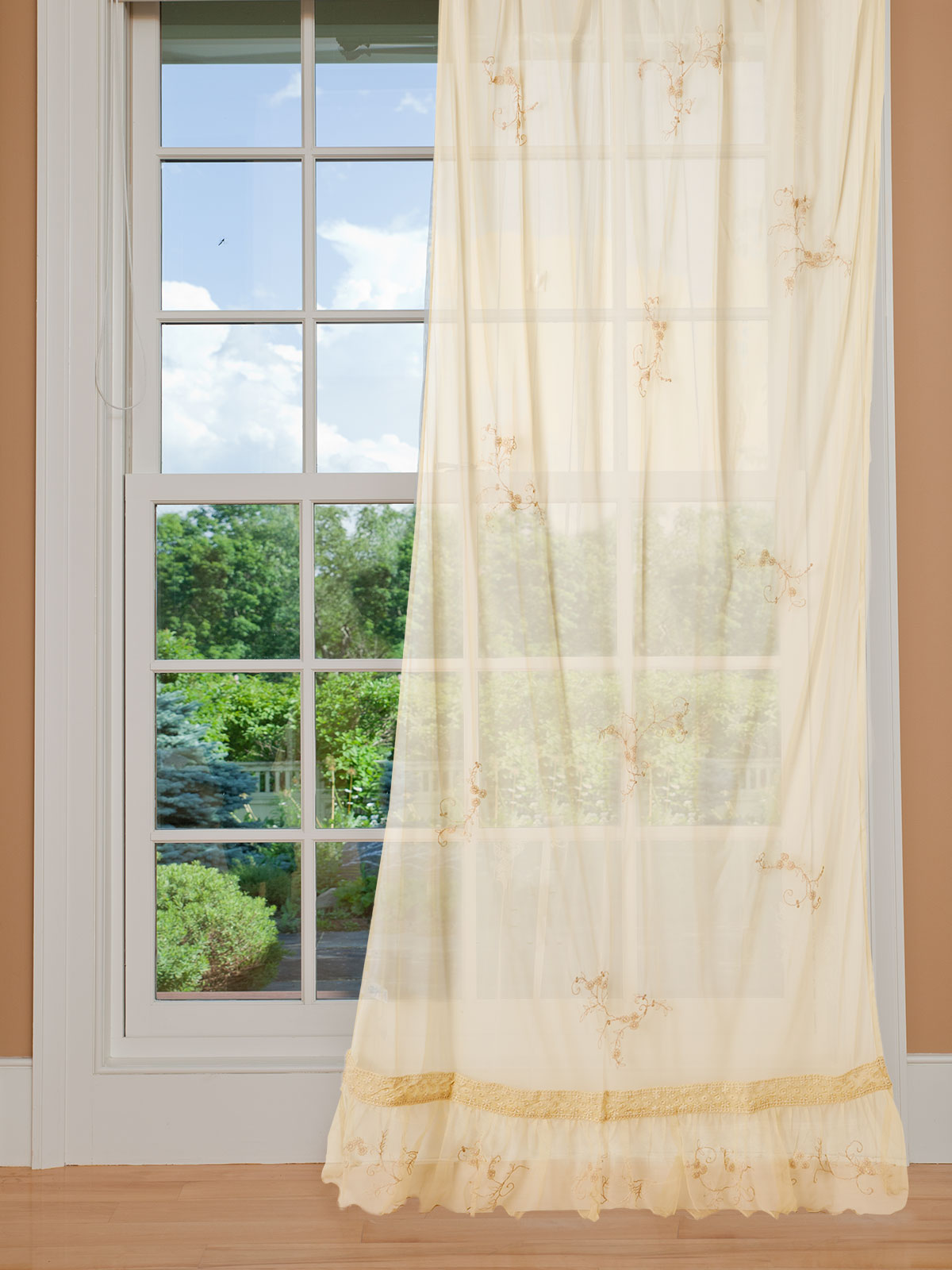 Beloved Embroidered Curtain
