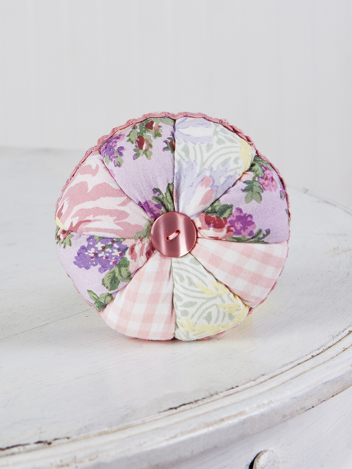 Tea Garden Patchwork Pinwheel Cushion