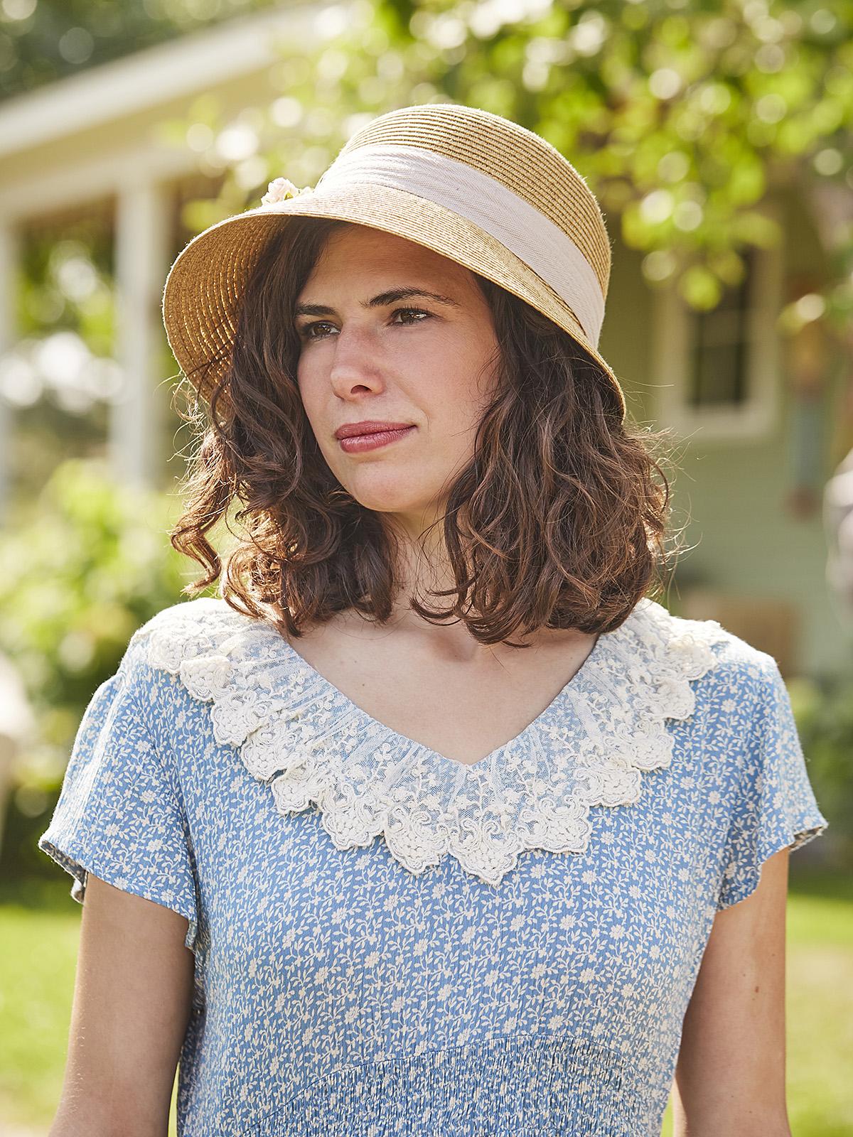 Linen Rose Bouquet Hat