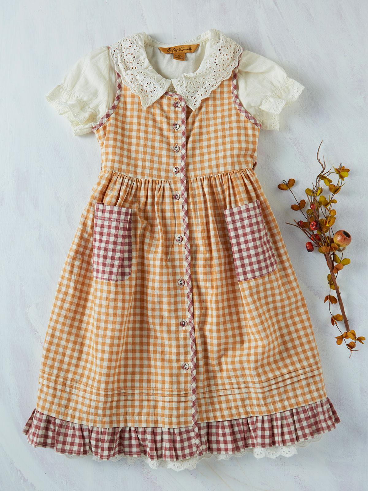 Sweet Tea Pinafore Girls Dress