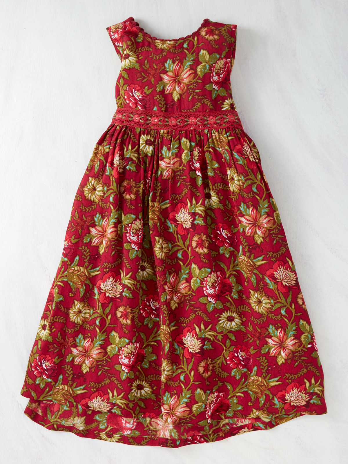 Virginia Girls Pinafore Dress