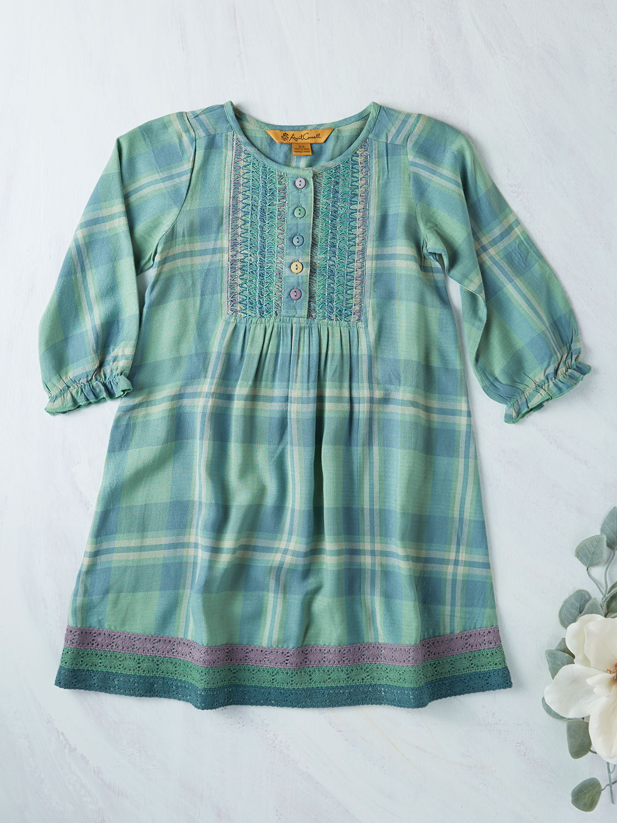 River Plaid Girls Dress
