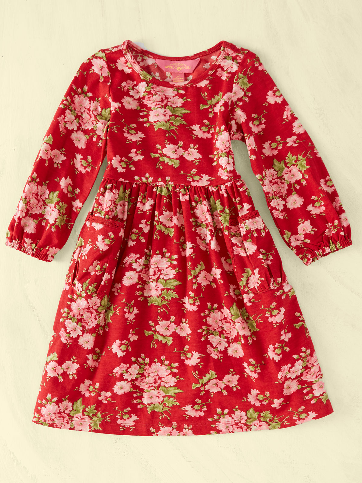 Carnation Jersey Girls Dress