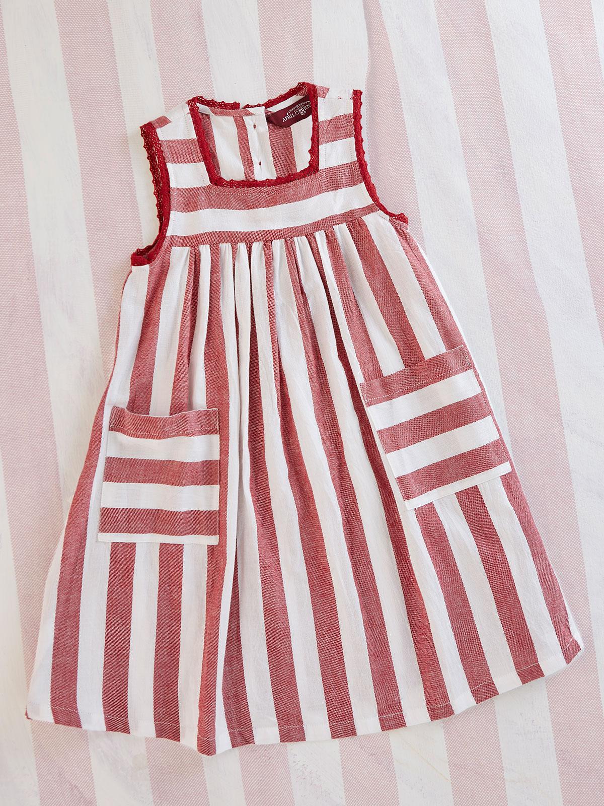 Nantucket Stripe Girls Dress