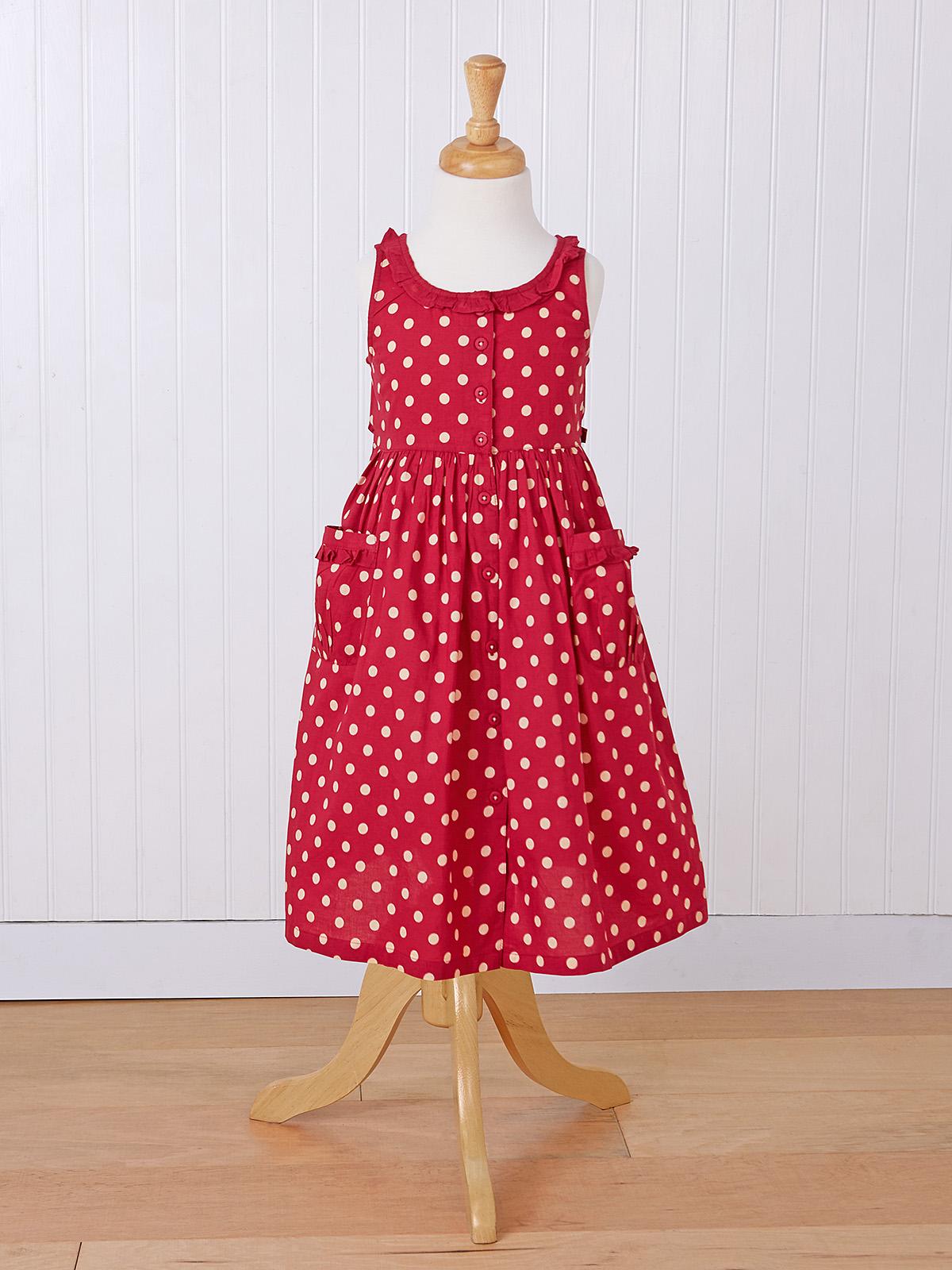 Molly Dot Girls Cambric Dress
