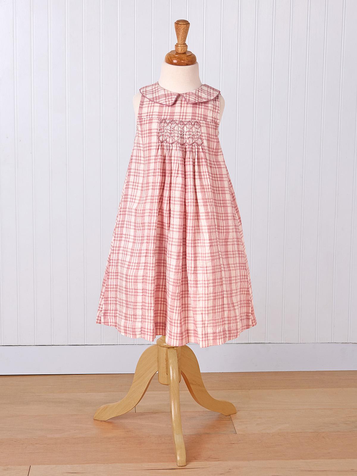 Rosy Linen Girls Dress