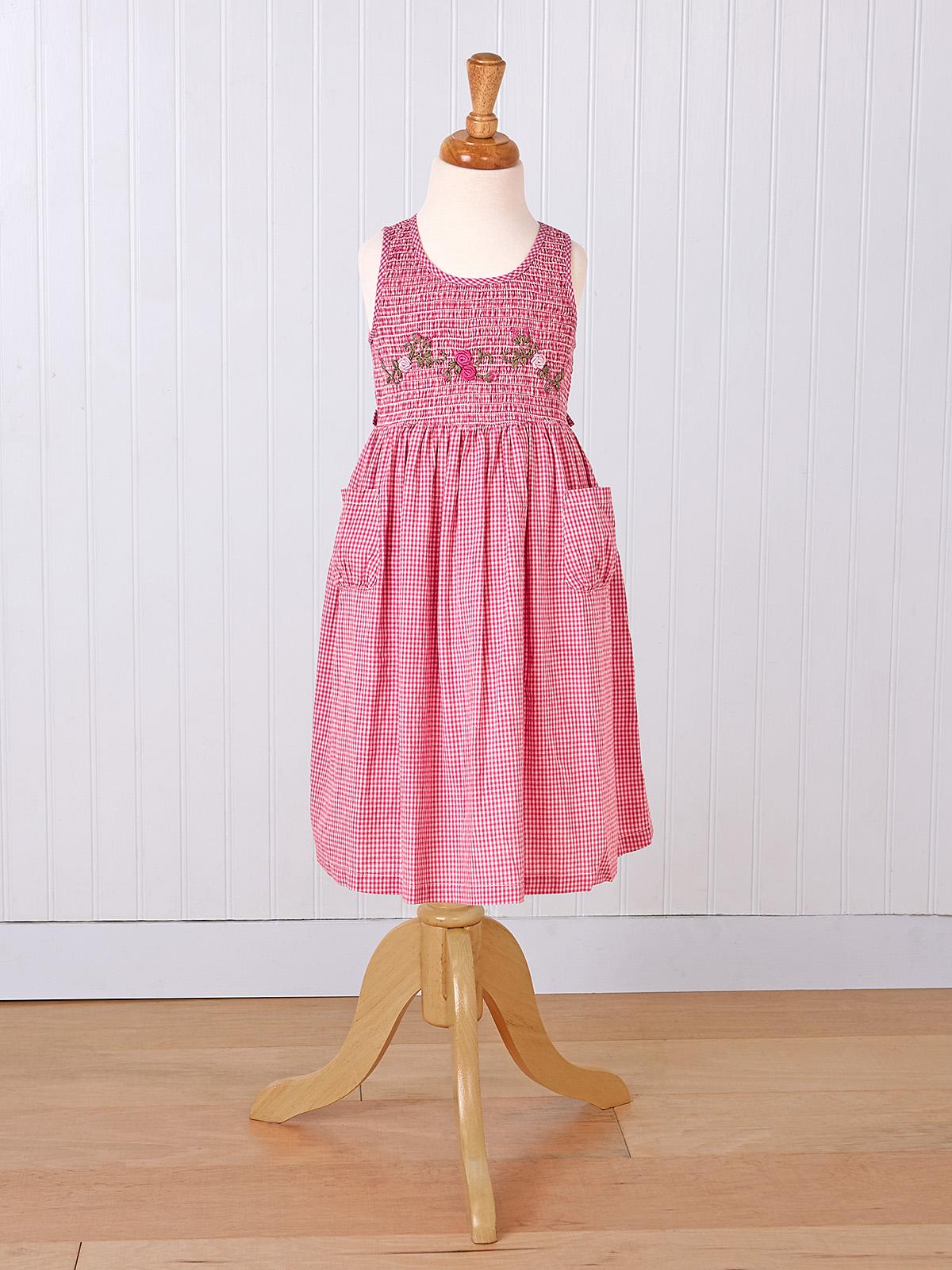 Berry Check Girls Dress