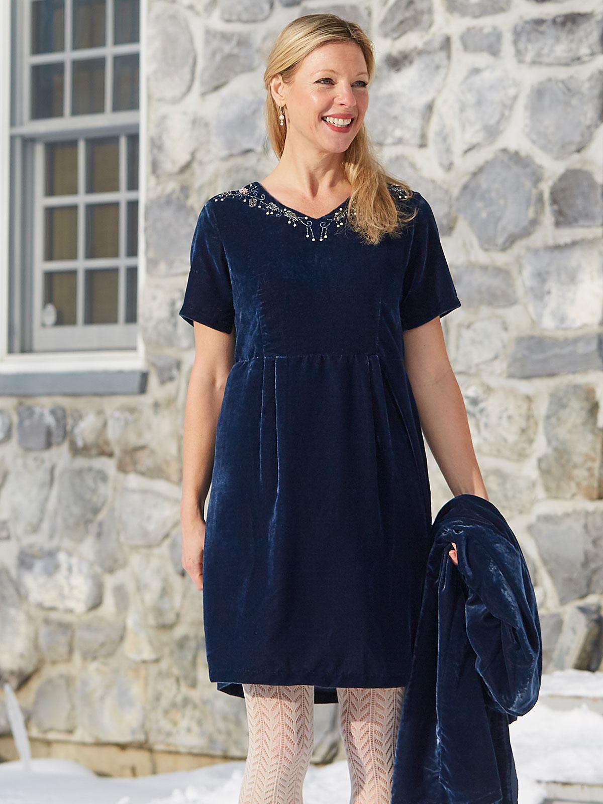 Sapphire Velvet Dress