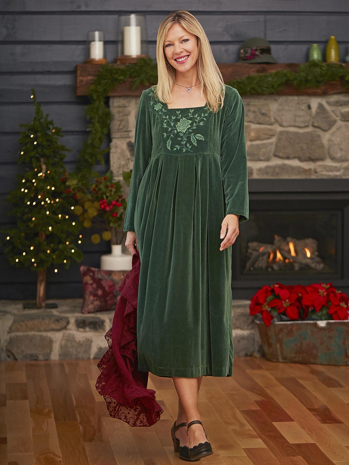 Victorian Velvet Dress