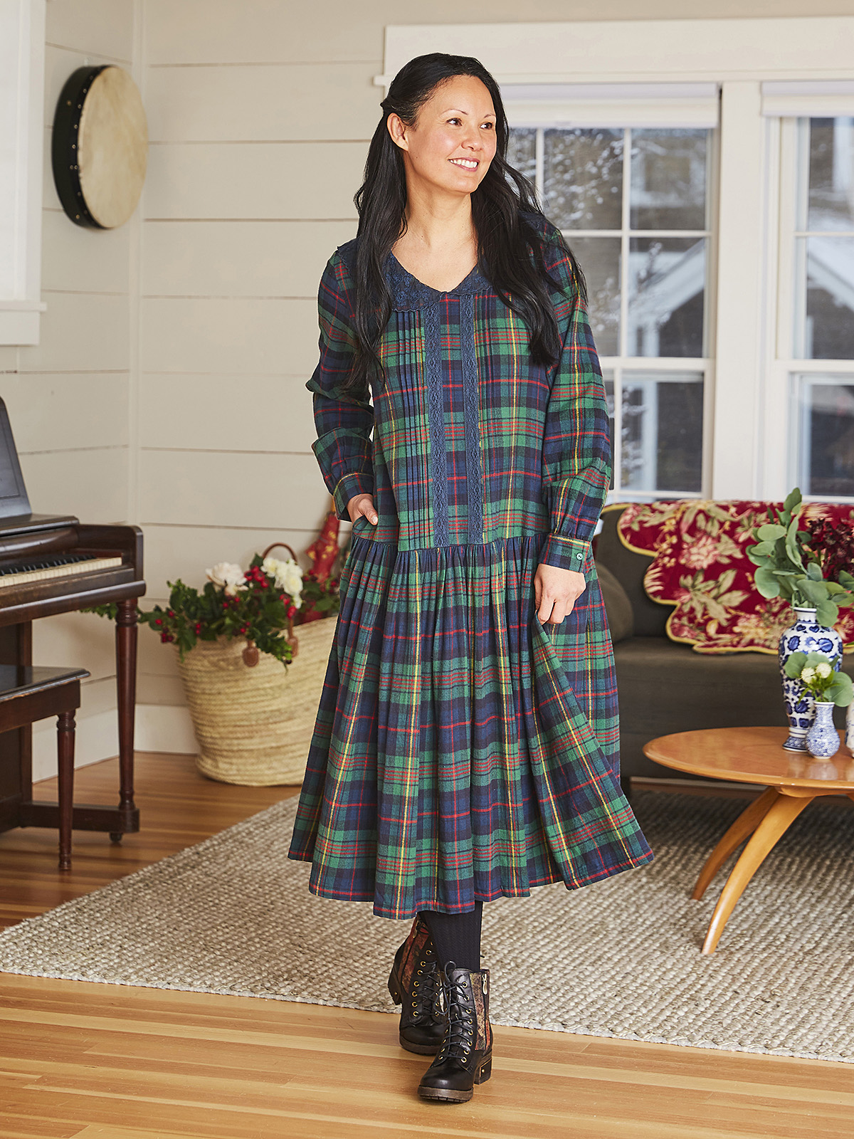 Highland Plaid Dress