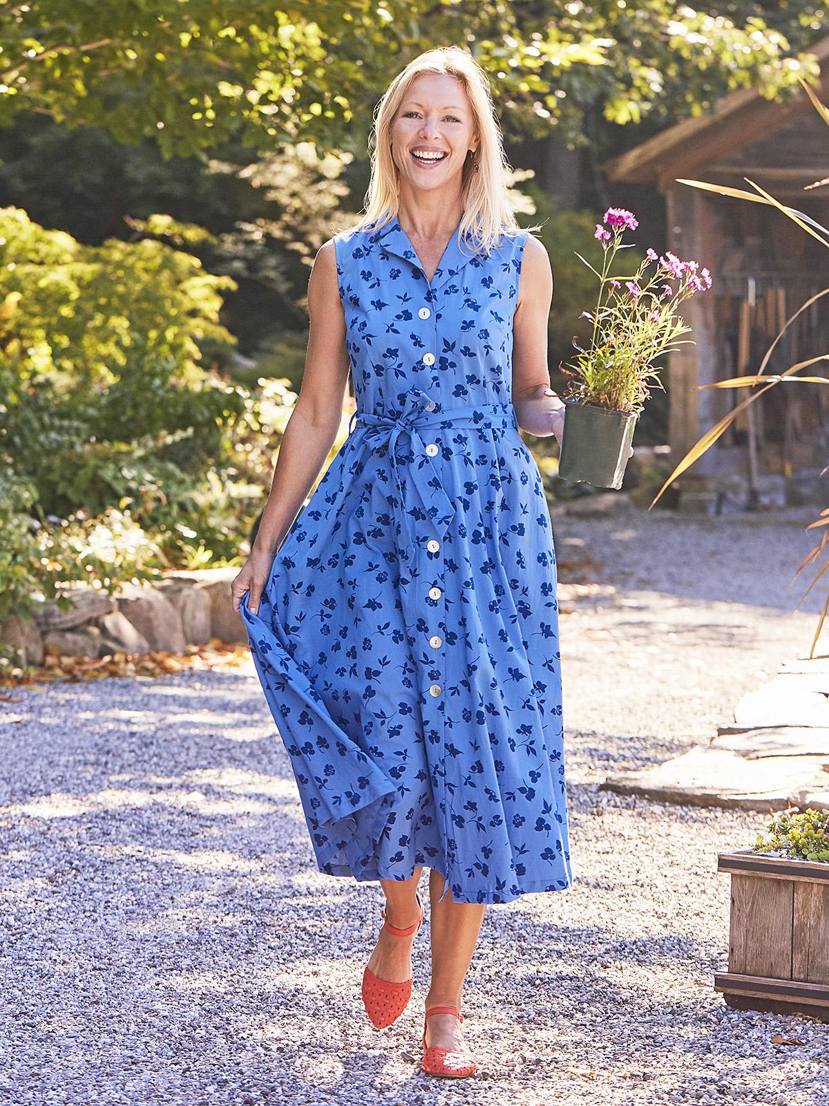 Fleur Cascade Shirtwaist Dress