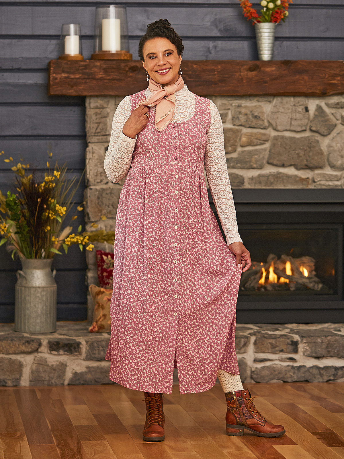 Willa Pinafore Dress