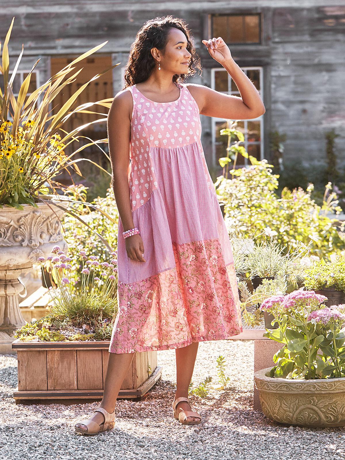 Sunflower Patchwork Dress