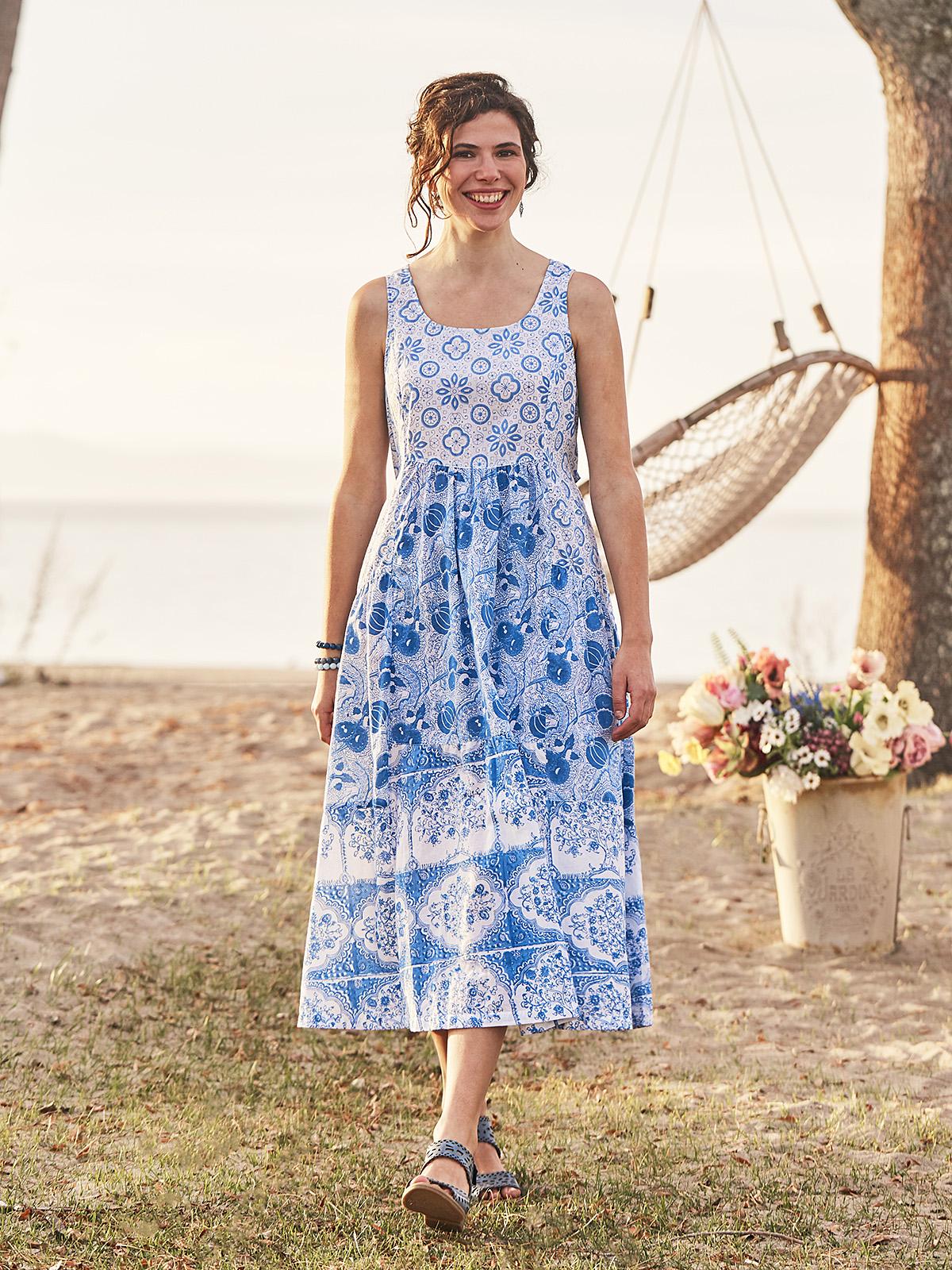 Indigo Folklore Dress