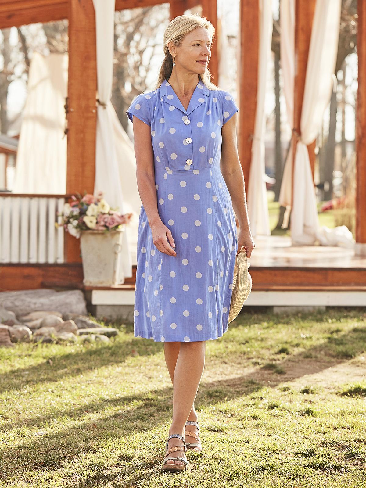Provence Dot Porch Dress