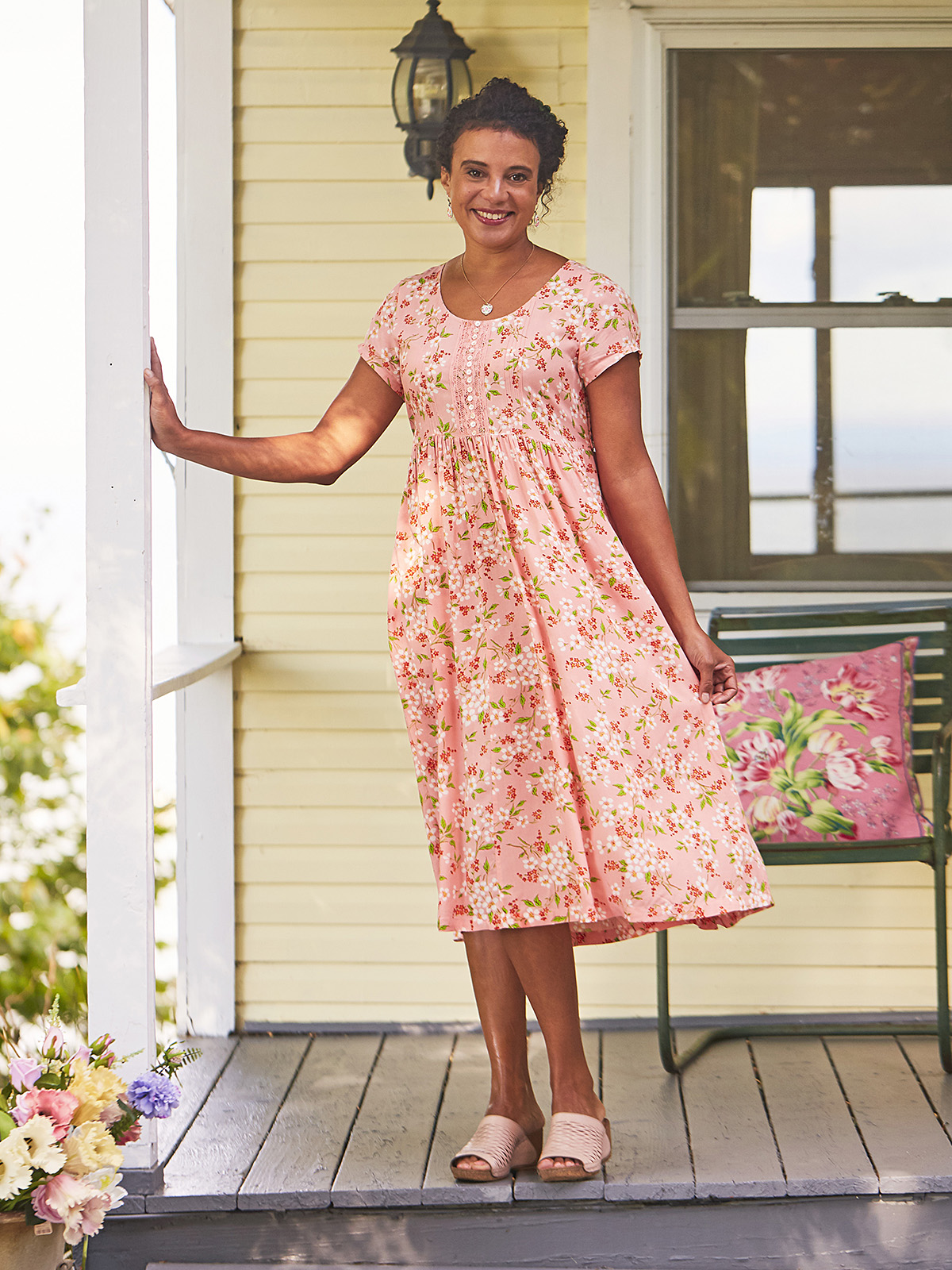 Peach Blossom Tea Dress