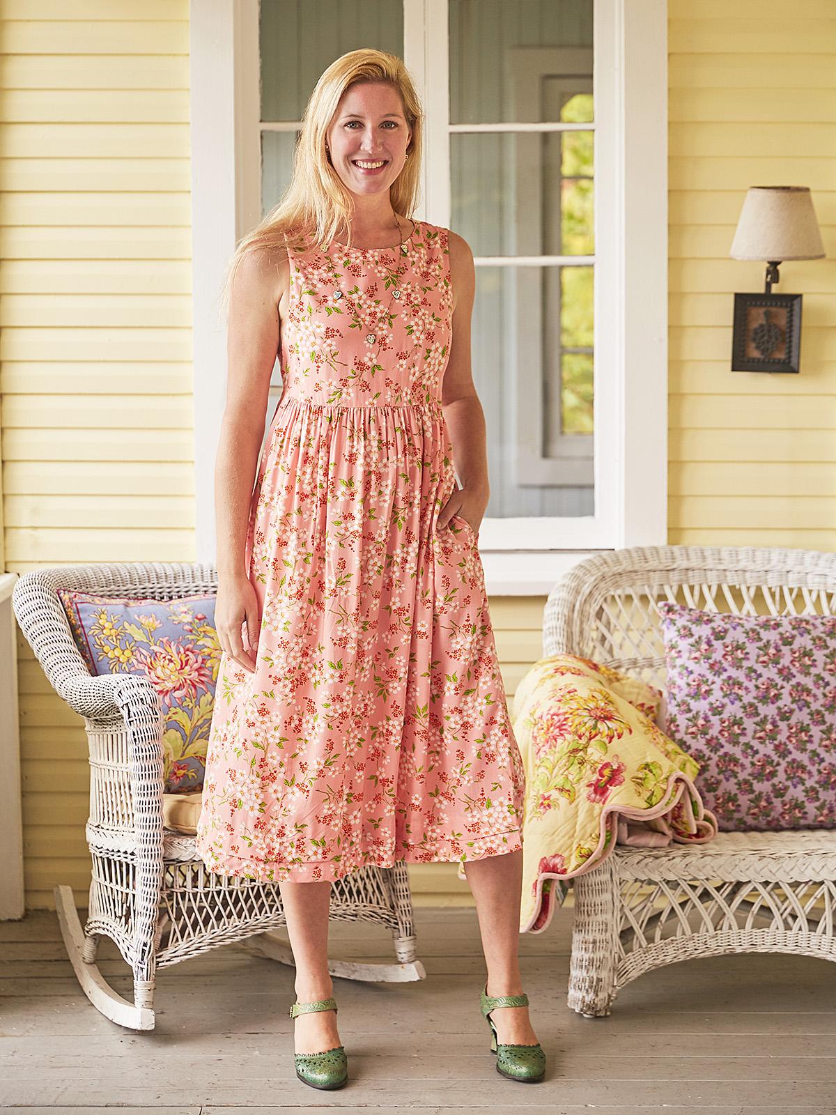Peach Blossom Prairie Dress