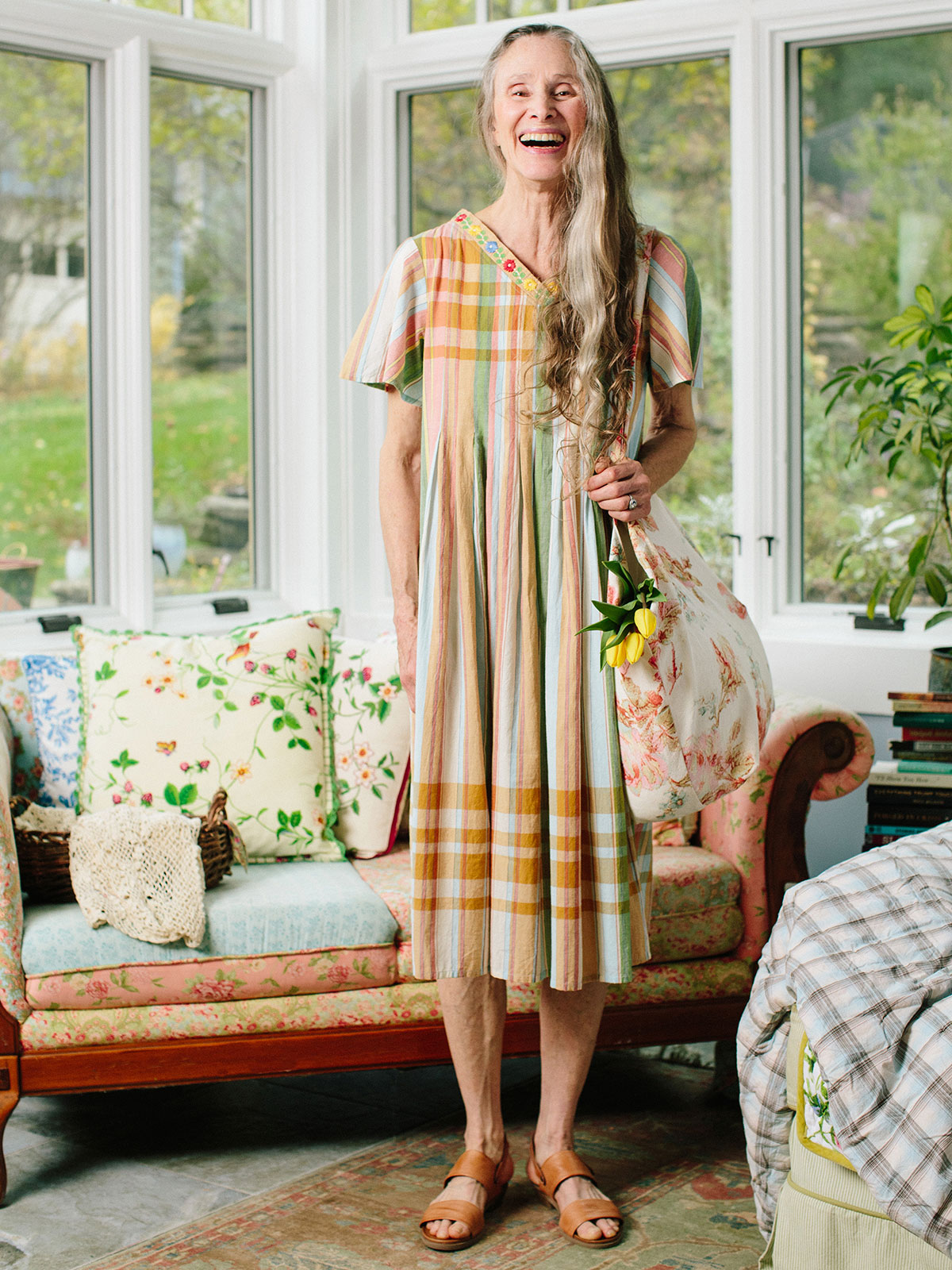 Summer Madras Smock Dress