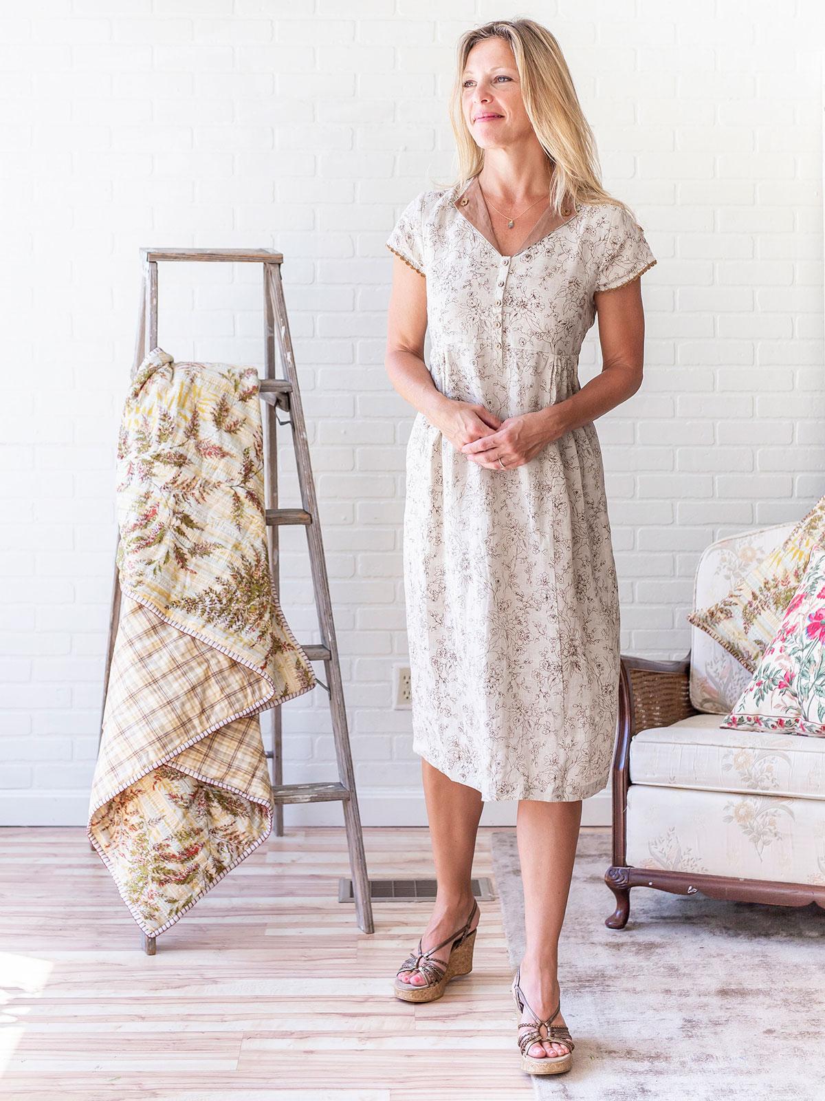 Naturalist Linen Dress