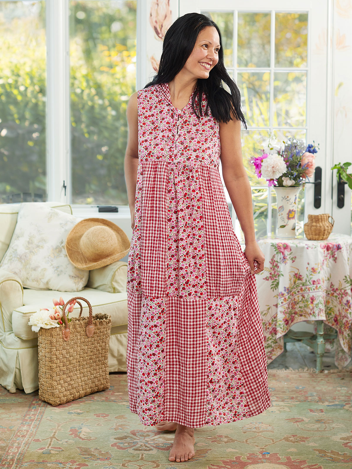 Sweetheart Patchwork Dress