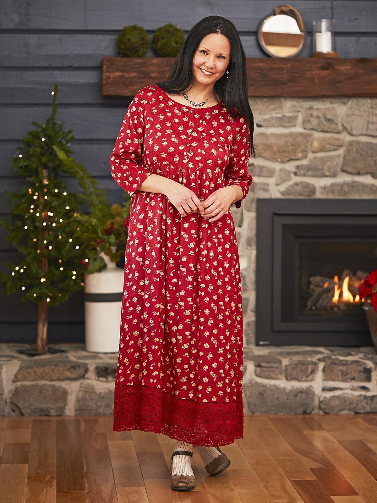 Ruby Jacquard Long Dress
